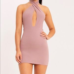 NWT cross front bodycon dress, size 4